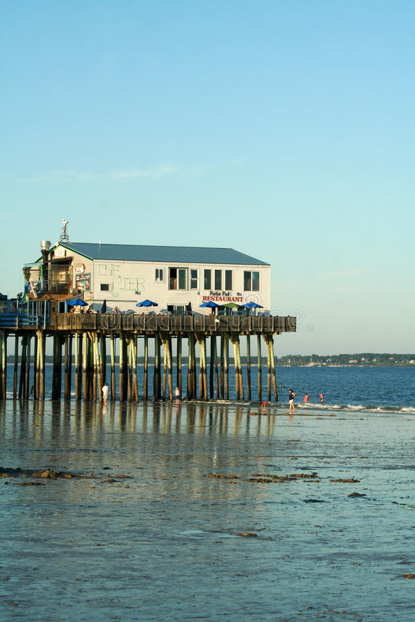 Old Orchard Beach, Maine stock photo