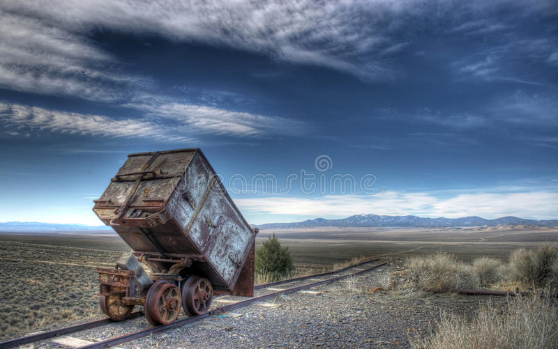 Download Old Ore Cart stock image. Image of mining, industrial - 18159205