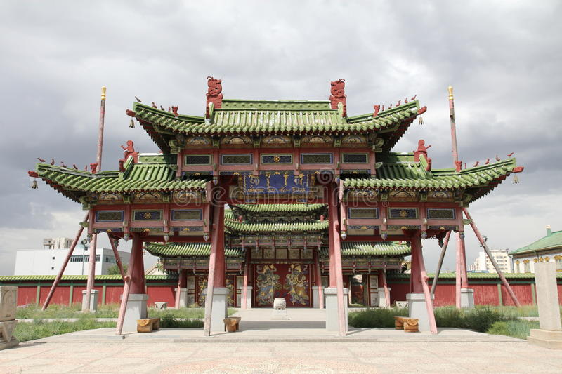 Old oriental palace stock image