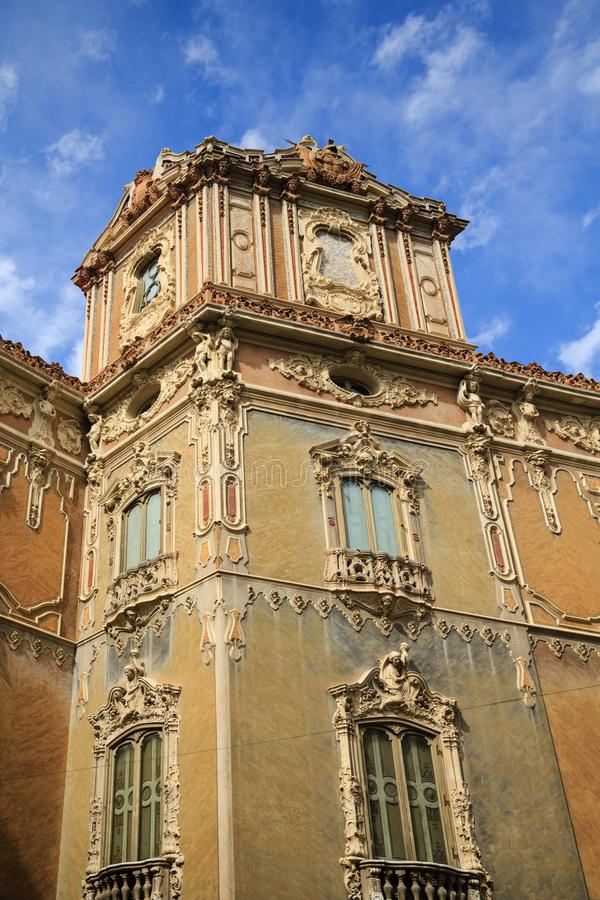 Old Ornate Building in Valencia Spain royalty free stock photo