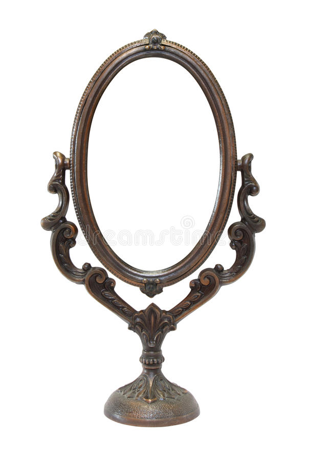An old ornate mirror royalty free stock photo