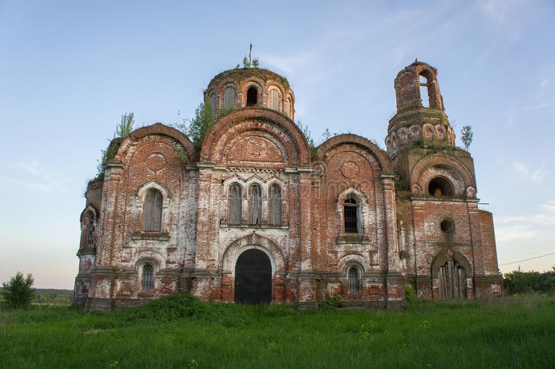 The Old Orthodox Church 1864 The Conception of John the Baptist in the Tver Region. Suffered during the Second World War royalty free stock images