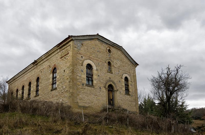 Old orthodox church in Vrontero village, Prespes lakes region, Florina, Greece. Old orthodox church in Vrontero village, Prespes lakes region, Florina, Macedonia stock photo