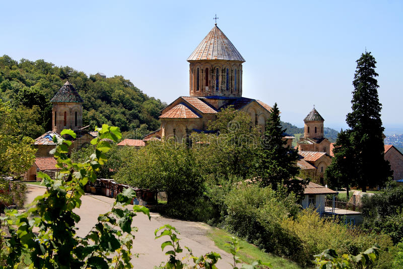 Old orthodox Gelati monastery stock images