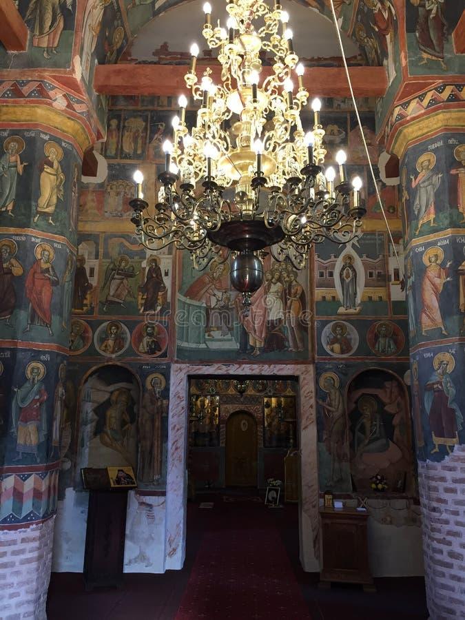 Old Orthodox Monastery of Sinaia, Romania royalty free stock images