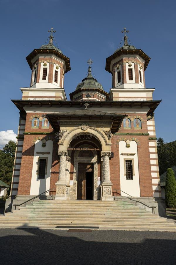 Old Orthodox Monastery of Sinaia, Romania stock photos