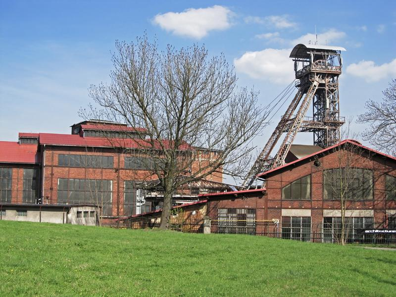 Old Ostrava mine. Coal mine Michal in Ostrava region in Czech Republic, nowadays a museum royalty free stock photos