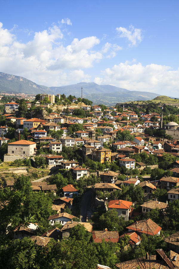 Old Ottoman houses in Safranbolu, Karabuk, Turkey. Safranbolu was added to the list of UNESCO World Heritage sites in 1994 due to its well-preserved Ottoman era royalty free stock image