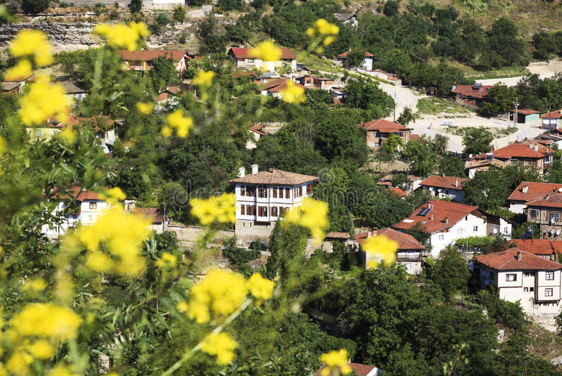 Old Ottoman houses in Safranbolu, Karabuk, Turkey. Safranbolu was added to the list of UNESCO World Heritage sites in 1994 due to its well-preserved Ottoman era royalty free stock images