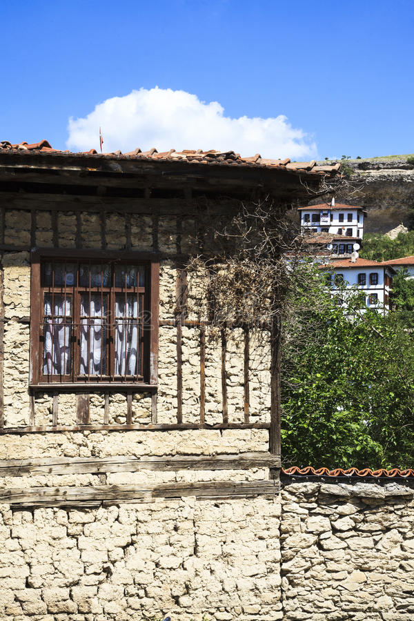 Old Ottoman houses in Safranbolu, Karabuk, Turkey. Safranbolu was added to the list of UNESCO World Heritage sites in 1994 due to its well-preserved Ottoman era stock photos
