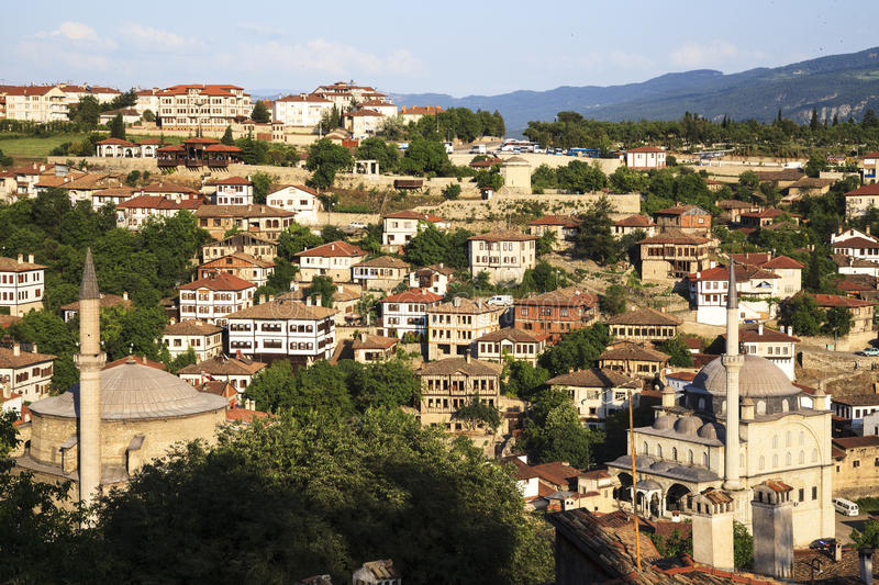 Old Ottoman houses in Safranbolu, Karabuk, Turkey. Safranbolu was added to the list of UNESCO World Heritage sites in 1994 due to its well-preserved Ottoman era stock images