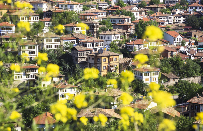 Old Ottoman houses in Safranbolu, Karabuk, Turkey. Safranbolu was added to the list of UNESCO World Heritage sites in 1994 due to its well-preserved Ottoman era stock photo
