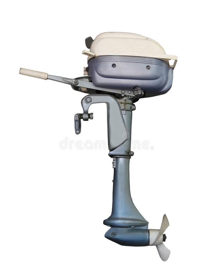 Free Old Outboard Motor For A Boat Isolated. Royalty Free Stock Images - 121235359