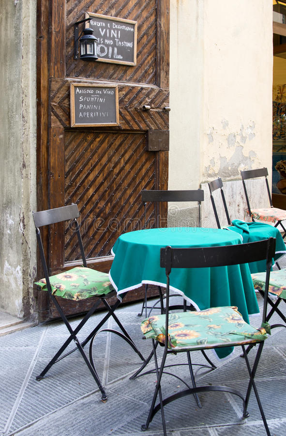 Old outdoor cafe royalty free stock photography