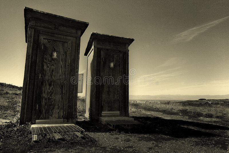 Old Outhouses stock photography