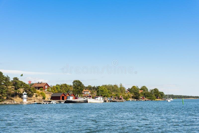 Old Oxelosund village Sodermanland archipelago stock image