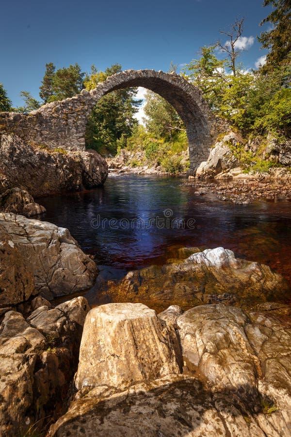 Old Pack Horse Bridge in Dulnain Bridge, Carrbridge, Scotland. UK stock photos