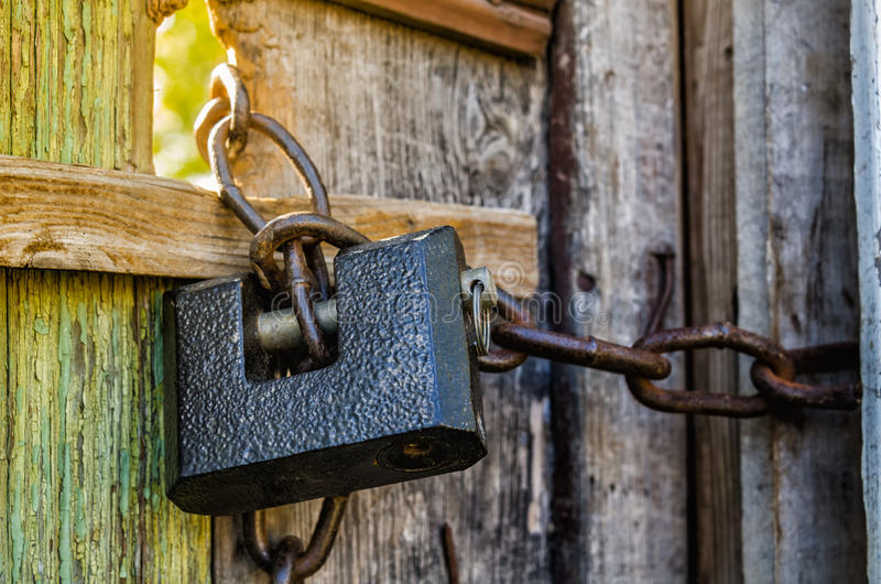 Download Old padlock stock photo. Image of latch, chains, entry - 37530136