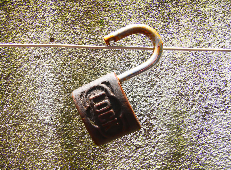 Download Old padlock with time stock photo. Image of away, space - 40361704