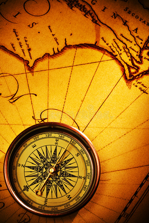 Free Old Page And Compass Stock Photos - 3534053