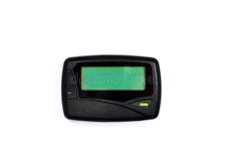 Old pager stock image