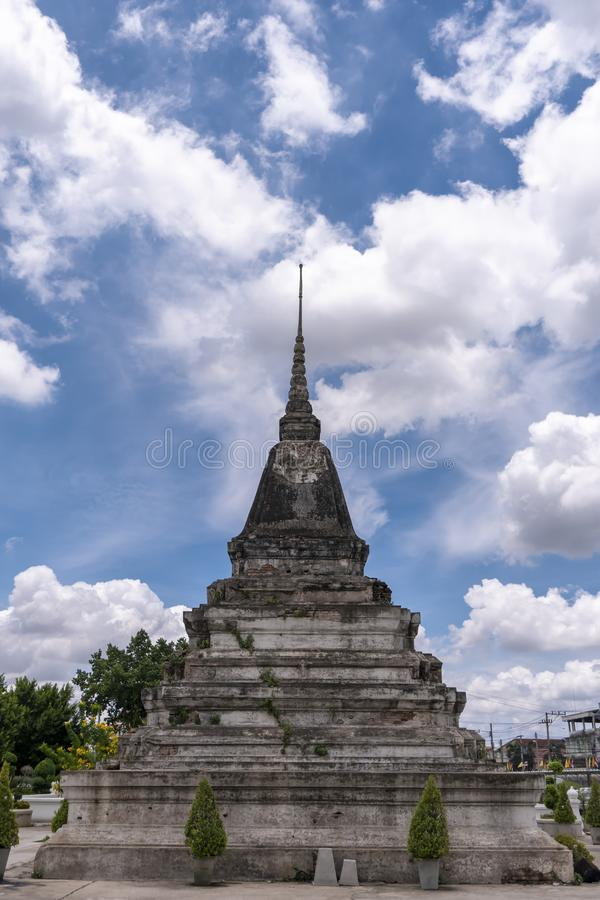 Old Pagoda. In Phitsanulok Province of Thailand royalty free stock photography