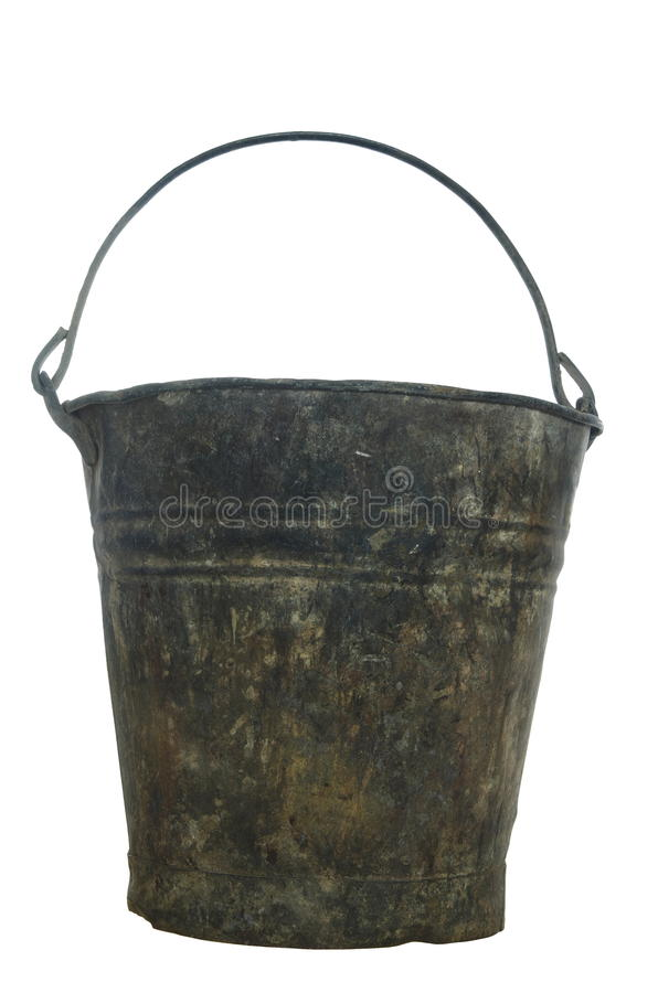 Old pail royalty free stock image