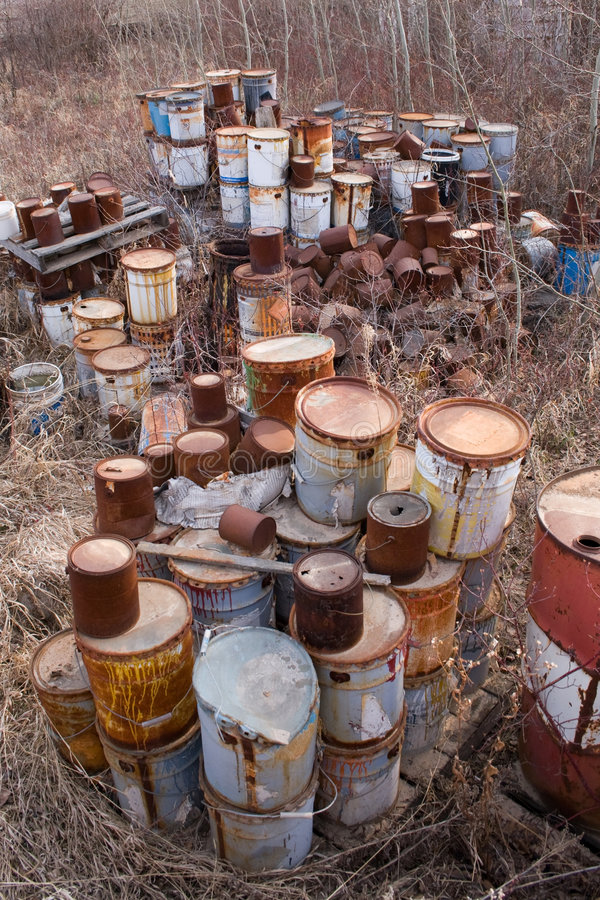 Download Old paint cans stock photo. Image of death, containers - 5208408