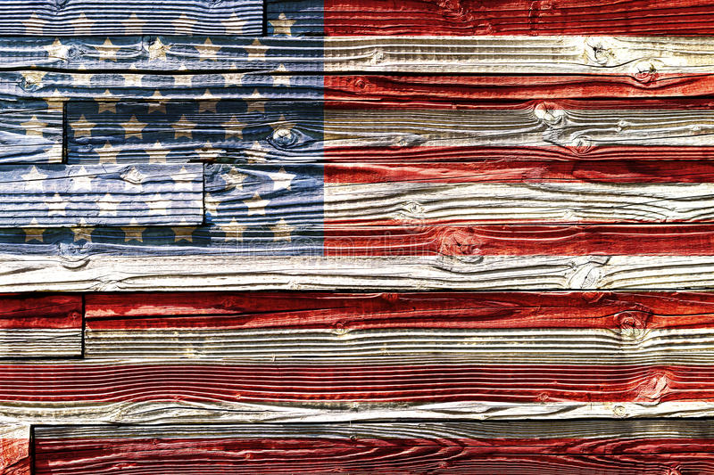 Old Painted American Flag Stock Illustration Image Of