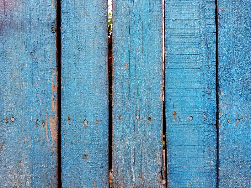 Old painted boards texture. Close up of an  old wooden fence panels royalty free stock images