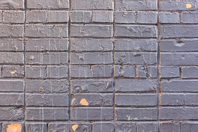 Old Painted Grey Brick Wall Texture Background royalty free stock images