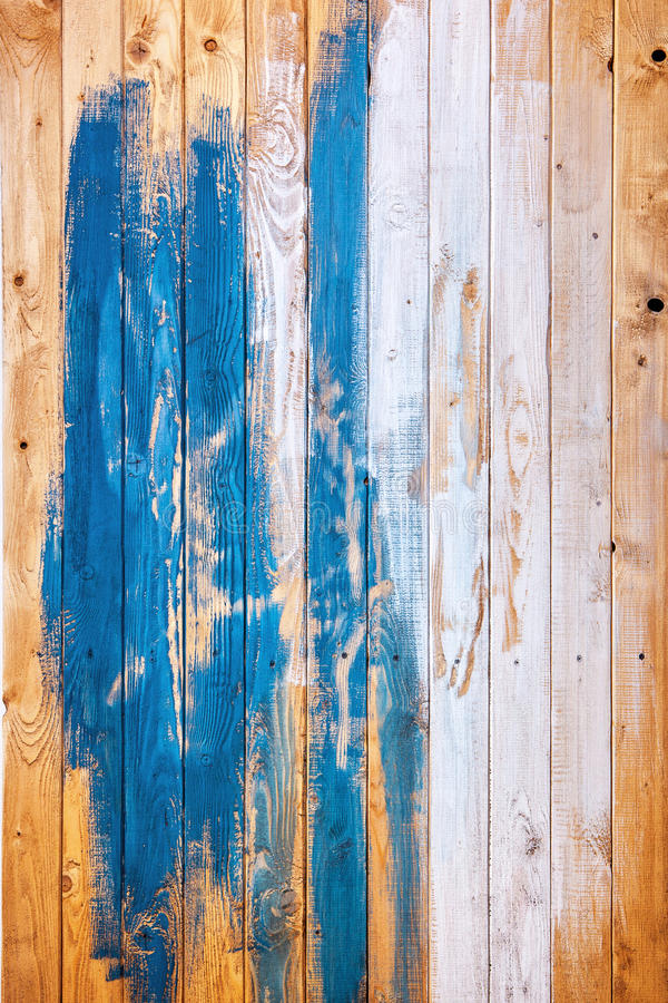 Old painted pine planks texture. stock image