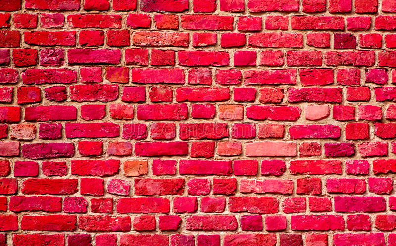 Old Painted Red brick wall Background royalty free stock images