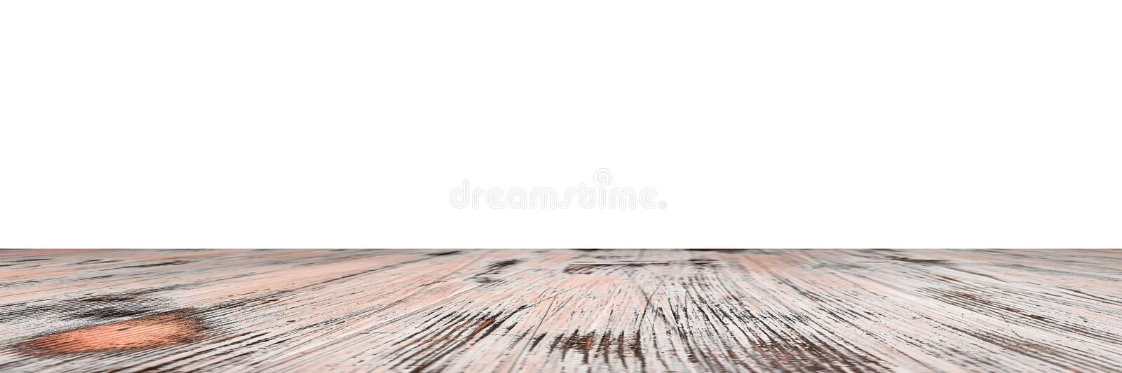 Old painted washed oak wood table isolated on white background. wooden table. Washed wood table isolated on white background. wooden table stock image