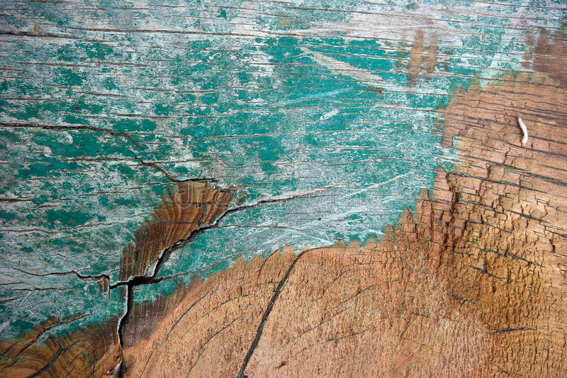 Old painted wood. royalty free stock photo