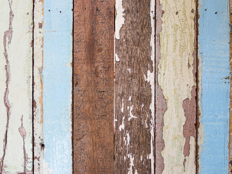 Old painted wood plank. stock image