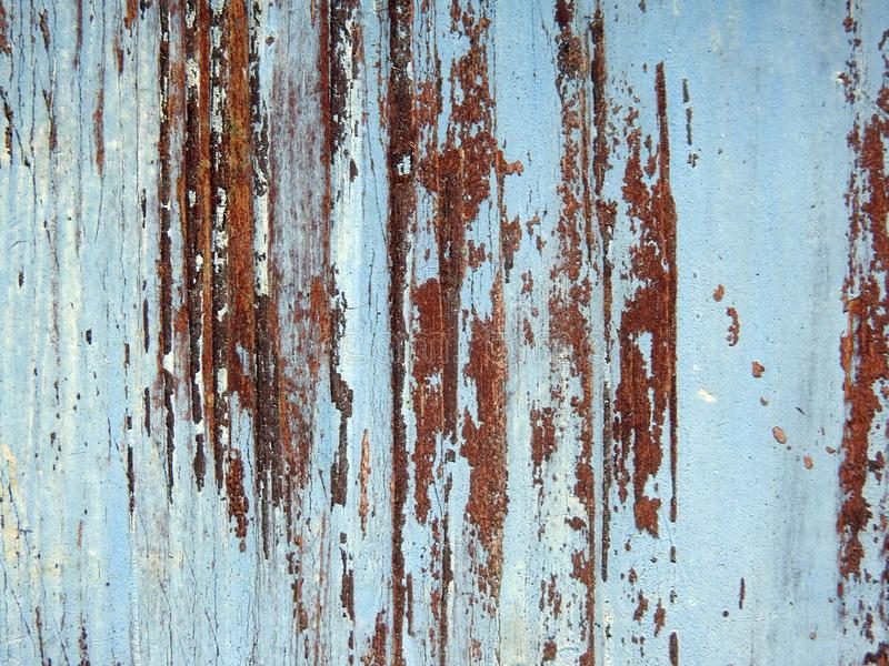 Old painted wooden desk surface texture stock photography
