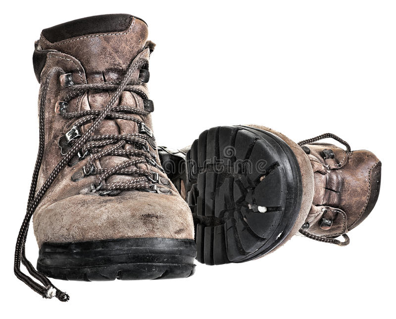 Download Old pair of walking boots stock photo. Image of footwear - 13611434