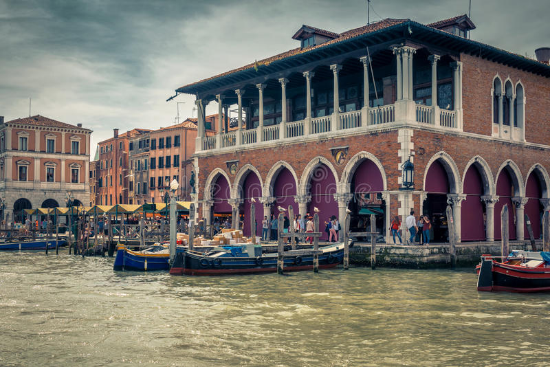 Old palace at the Grand Canal in Venice, Italy stock photos