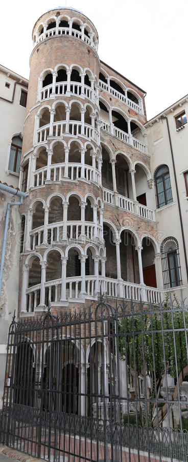 Old palace with spiral staircase called Contarini del Bovolo Ven. Ancient palace with spiral staircase called Contarini del Bovolo Venice Italy royalty free stock photography