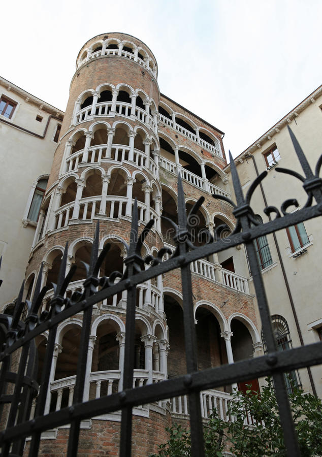 Old palace with staircase called Contarini del Bovolo Venice in. Palace with spiral staircase called Contarini del Bovolo Venice in Italy stock images