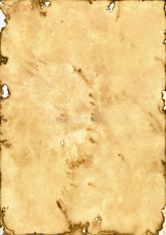 Old paper. Old brown paper background - historic document stock illustration