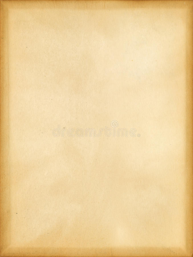 Old Paper. Extra large antique paper background texture with dark book cover impressions around the edges