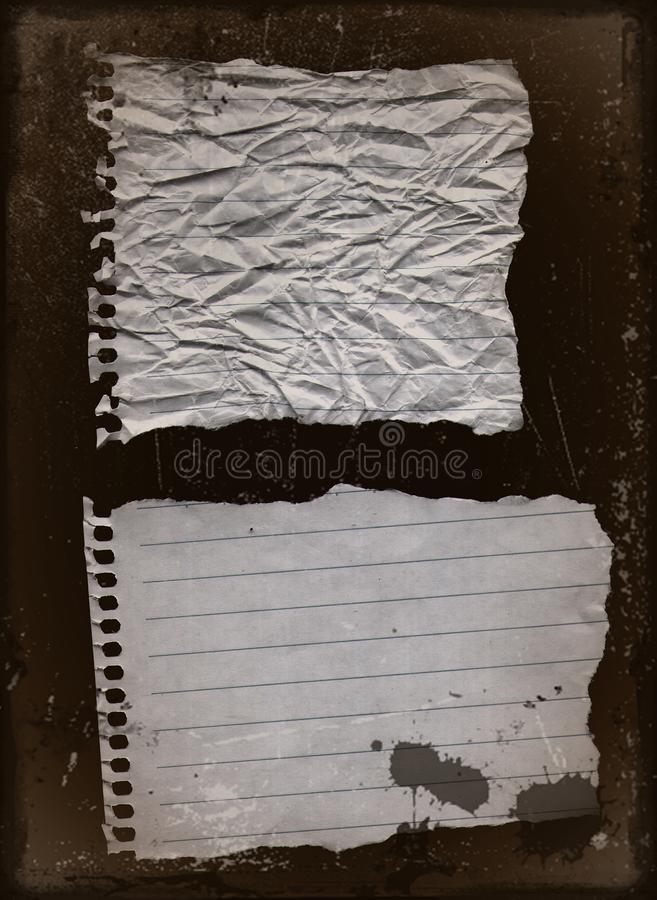 Old paper 2. Images of grunge Old paper / images of background of grunge flower style royalty free illustration