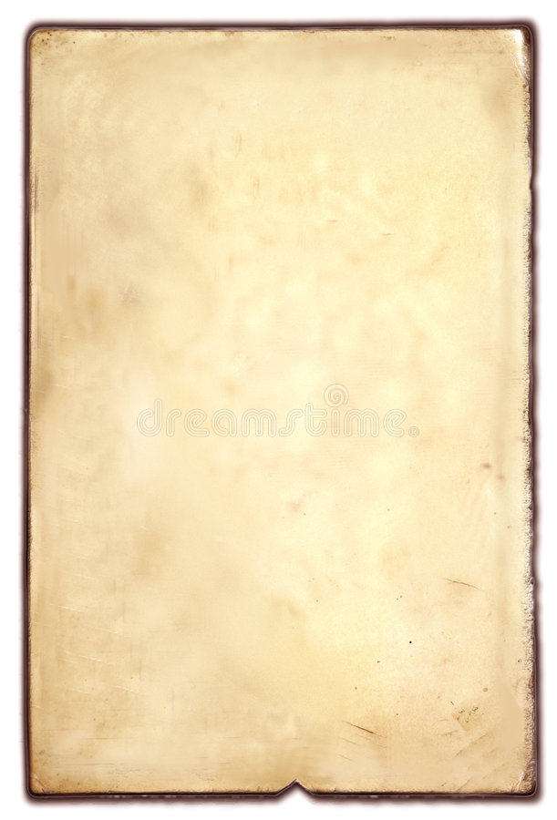 Old paper. Old and dusty yellow paper background royalty free stock photo