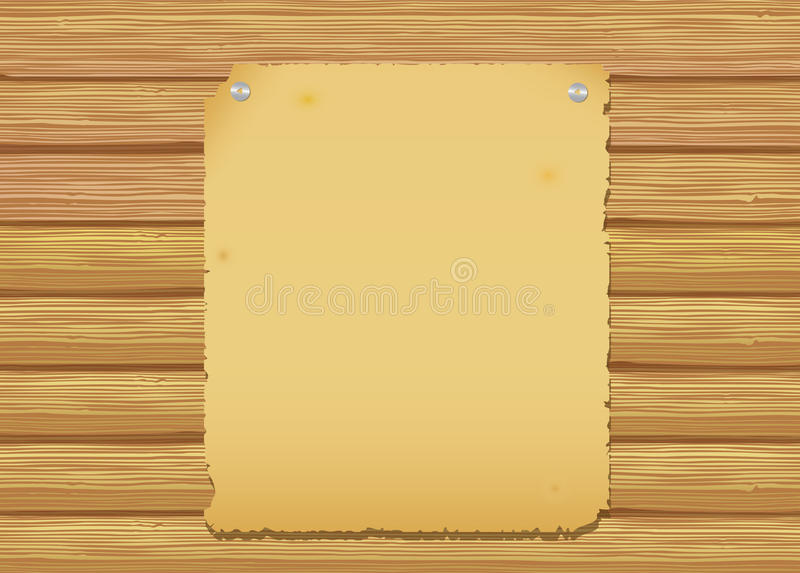 Download Old paper stock vector. Illustration of message, paper - 26914720