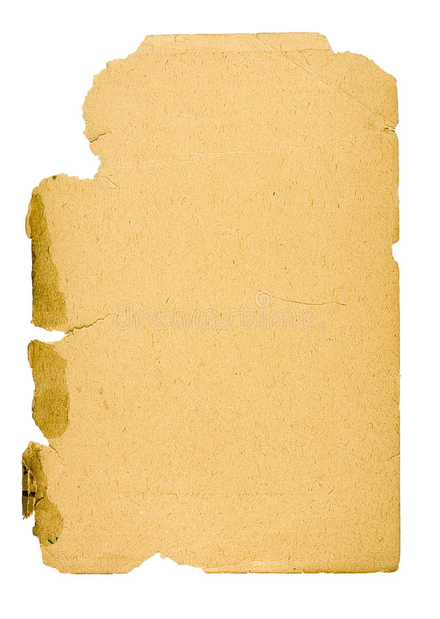 Old paper -3. Old paper of the beginning of the last century on a white background stock photography