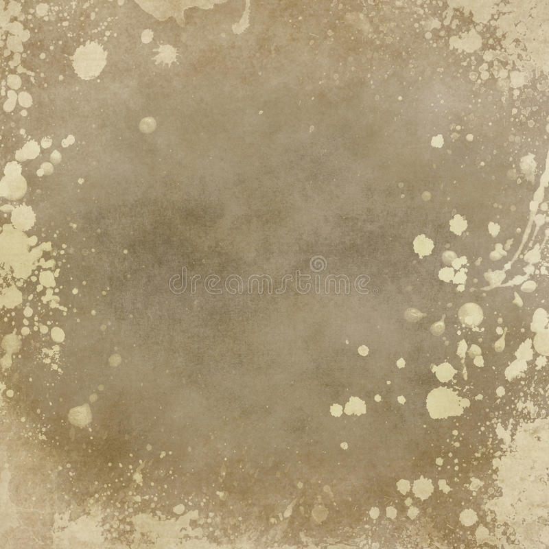 Old paper background with splatters. Grunge background royalty free stock image