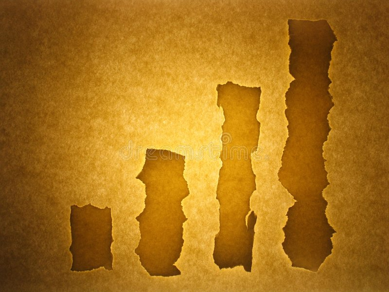 Old paper background - stock chart. Old sheet background resembling business stock chart. Sepia toned stock illustration