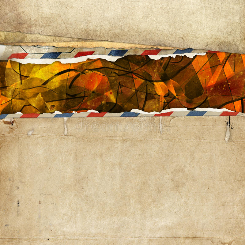 Download Old Paper Background With Torn Border Stock Illustration - Image: 22020352